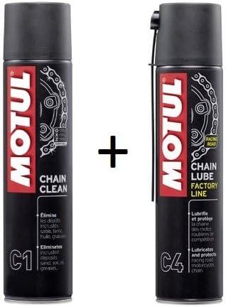 MOTUL Pack +ECONOMICO Spray Cadena C1 400ml Limpia C4 ENGRASE ...