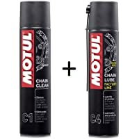 MOTUL Pack +ECONOMICO Spray Cadena C1 400ml Limpia