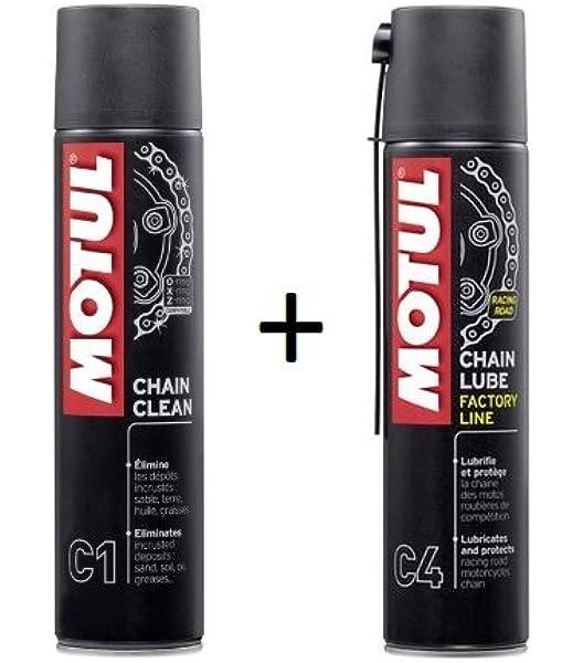 MOTUL Pack +ECONOMICO Spray Cadena C1 400ml Limpia C4 ENGRASE Special Carretera: Amazon.es: Coche y moto