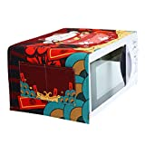 LUNA Japanese Style Microwave Oven Dustproof Cover for Home Decor (A8)