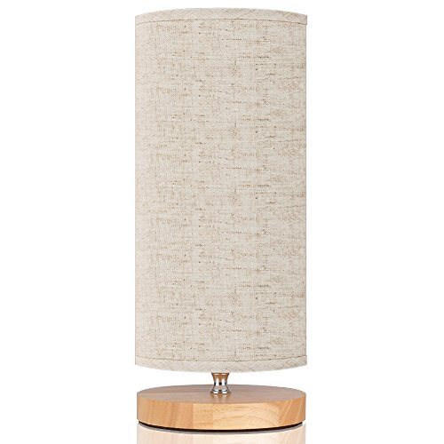 Cheap  GLORIOUS-LITE Bedside Lamp, Round Lamp Shade with E26 Lamp Base Nightstand Lamp,..