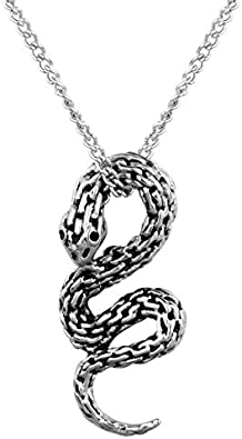 collier homme serpent