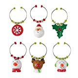 Boston Warehouse Holly Jolly Wine Charm Set
