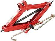 VICASKY 2 Ton Scissor Jack para Jack Stand Ferramenta de Reparo Do Carro Do Pneu de Carro Com O Roqueiro (Verm