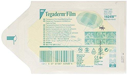 3M Tegaderm Transparent Film Dressing 2 3/8'' x 2 3/4'' - Window Frame Box: 100