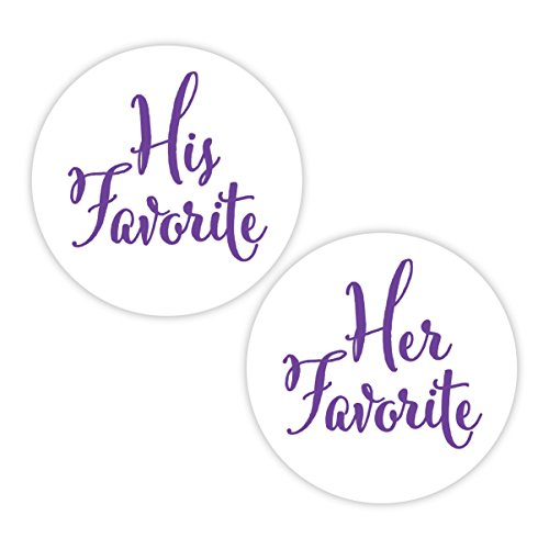 His Favorite & Her Favorite Wedding Stickers, Choose Your Colors, Wedding Favor Stickers ()