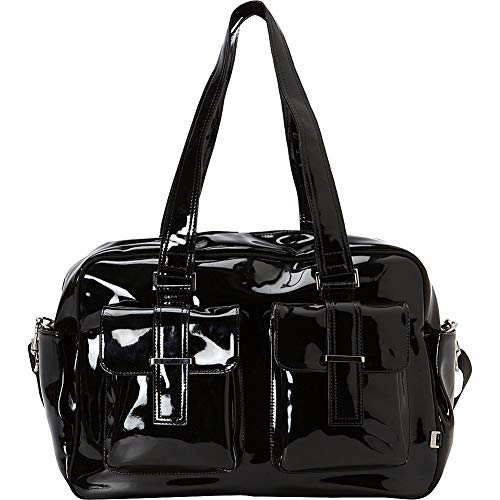 OiOi Patent Carryall Diaper Bag, Black