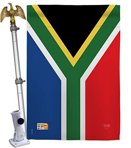 Breeze Decor HS108208-BO-02 South Africa World Nationality Decorative Vertical House Flag Set, 28