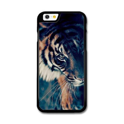 Custom Case for iPhone 6 6S Plus 5.5 Inch Black Bengal Tiger Face Closeup SDFJIOJEM6098 Bengal Tiger Close Up