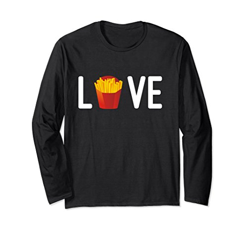 Unisex Love French Fries Salty Snacks Junk Food Addict Shirt XL: - Junk Food Addict
