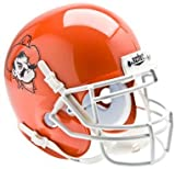 Schutt NCAA Oklahoma State Cowboys Collectible Pistol Pete Alt 5 Mini Helmet, Orange