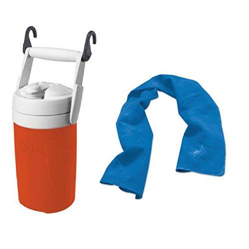 Igloo Sport 1/2 Gal Jug with Hooks - Orange + Cooling Towel by