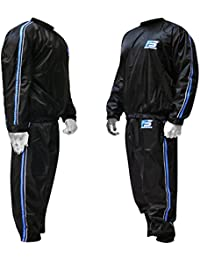 MMA Sauna Sweat Suit Track Weight Loss Slimming Fitness Gym Exercise Training Color Blue Anti-Rip