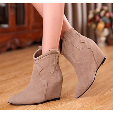 Ankle Boots Heel Boots UK5 Winter Leather Boots Pu 5 RTRY For Women'S Shoes Nubuck US7 Flat 5 EU38 Fall Fashion Booties CN38 Almond Black Casual POqzfw