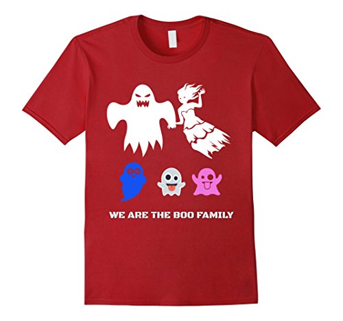 Mens Girls and boys Scary Halloween costumes boo ghost T shirt XL Cranberry (Weird Couples Costumes Halloween)