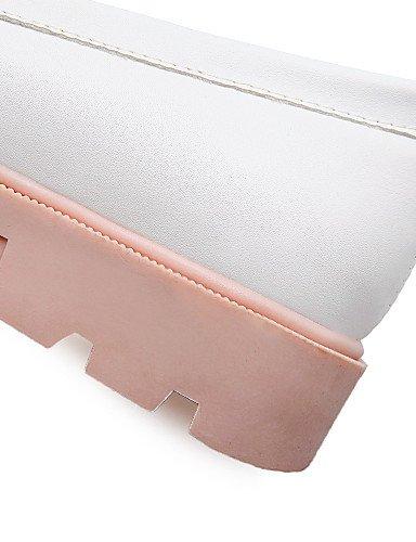 us10 Eu35 5 Uk8 5 confort tacones Mujer Cn43 Ggx oficina Beige De Pink Redonda Y Blanco us5 tacón Trabajo Pink Zapatos Casual Eu42 pu Uk3 azul Rosa Bajo Cn34 Punta qnRpRHwX