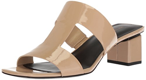 Via Spiga Women's Florence Block Heel Slide Sandal Sand Patent 0RnKZX