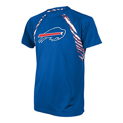 NFL Buffalo Bills Men's Zubaz Zebra Accent Print Team Logo Short sleeve Raglan T-Shirt, X-Large, Blue - Buffalo Bills T-shirt