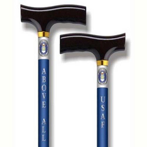 Straight Adjustable Aluminum Cane With Fritz Handle US Air - Cane Alex