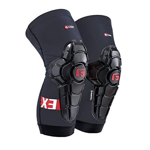 G-Form Pro-X3 Knie Pads/Guards voor Mtb Bmx Dh Fietsen Snowboard Skateboard Voetbal (Grijs, XL)