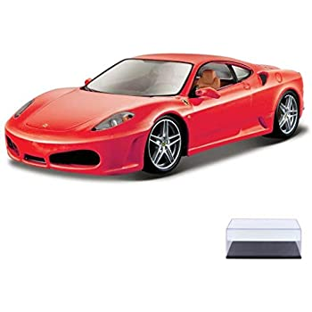 Bburago Diecast Car & Display Case Package - Ferrari F430, Red 26008 - 1/24 Scale Diecast Model Toy Car w/Display Case