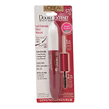 LOreal Paris Double Extend Beauty Tubes Mascara, Nourishing Basecoat, Ultra Lenghtening Top