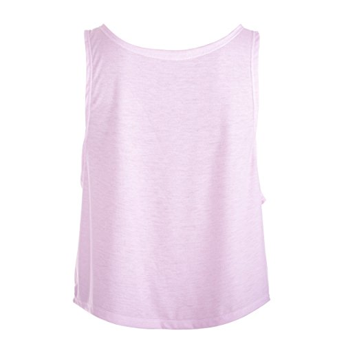 Fringoo - Camiseta sin mangas - Top corto - para mujer Girl Power