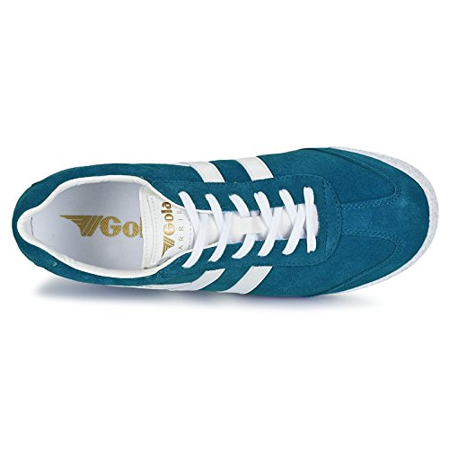 Gola Mens Classics Harrier Suede Trainers Marine Blue / White