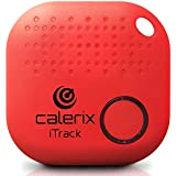 Key Finder Upgrade by Calerix, Anti-Lost Tool for Wallet, Purse, Cell Phone Locator, Car Key, Pram & Pets Tracker, Bluetooth Key Finder with Alarm, GPS Tracking System Wireless Key Finder (Red)