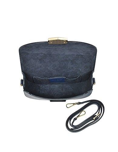 Le Parmentier Borsa A Spalla Donna H120BLUE Pelle Blu