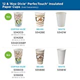 Dixie PerfecTouch 12 Oz Insulated Paper Hot Coffee