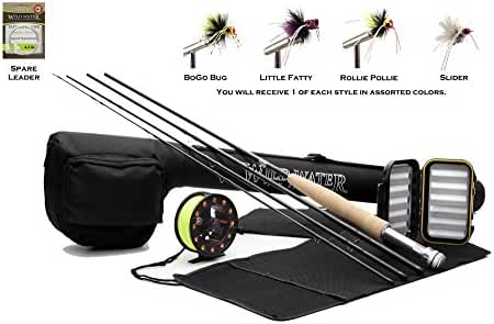 Wild Water Fly Fishing Complete 5/6 Starter Package for Panfish and Bass with Pultz Poppers