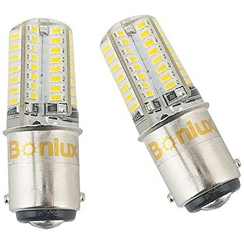 Bonlux 2-Pack LED Ba15d Bulb Double Contact Bayonet Base 1076 1130 1176 1142 LED