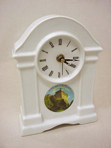 Reloj DE PIE SOBREMESA Porcelana Souvenir Recuerdo DE CASTELLDEFELS Castillo Barcelona CATALUÑA ESPAÑA Spain: Amazon.es: Hogar