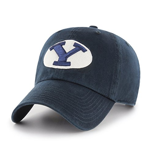 OTS NCAA Byu Cougars Challenger Clean Up Adjustable Hat, Navy, One Size