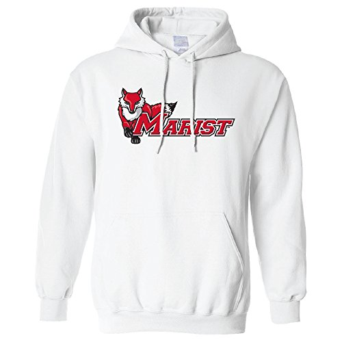 NCAA Marist Red Foxes Long Sleeve Hoodie, Large, (Fox White Sweatshirt)