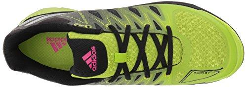 adidas Performance Damen Volley Response 2 Boost W Volleyballschuh Semi Solar Slime / Matt Silber / Schwarz