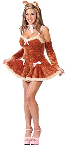 GTH Women's Sexy Touch Me Teddy Adults Animals Halloween Themed Costume, S/M (2-8)