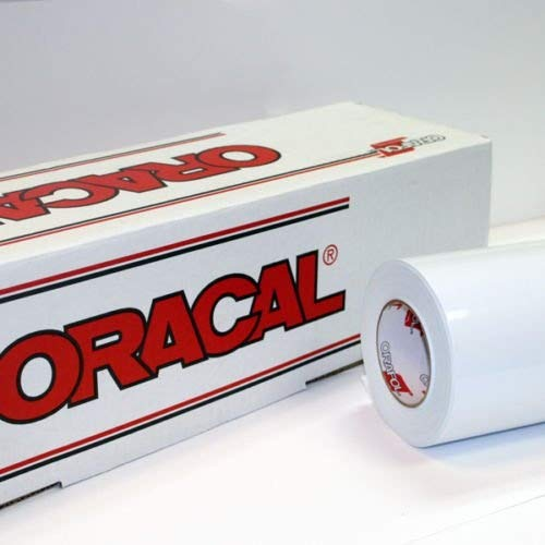 24'' x 10 Ft Roll of Oracal 651 Matte White Vinyl for Craft Cutters and Vinyl Sign Cutters