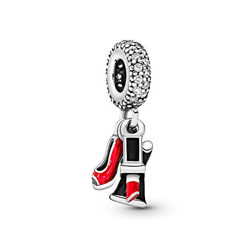 PANDORA Glamour Trio Dangle Charm, Sterling Silver, Mixed Enamel & Clear Cubic Zirconia, One Size from PANDORA