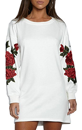 Cotton Embroidered Sweatshirt - 1