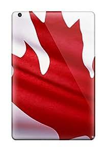 Ipad Mini/mini 2 Case Cover - Slim Fit Tpu Protector Shock Absorbent Case (canada National Flag)
