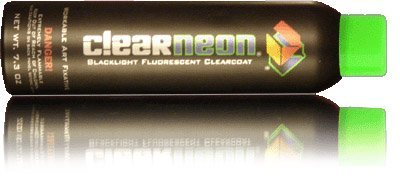 Clearneon 08266A 02759 Green Aerosol Matte UV Reactive Spray Paint- 1 Bottle ()