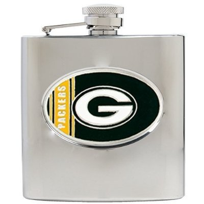 Green Bay Packers 6oz Stainless Steel Flask - Personalized Engraving