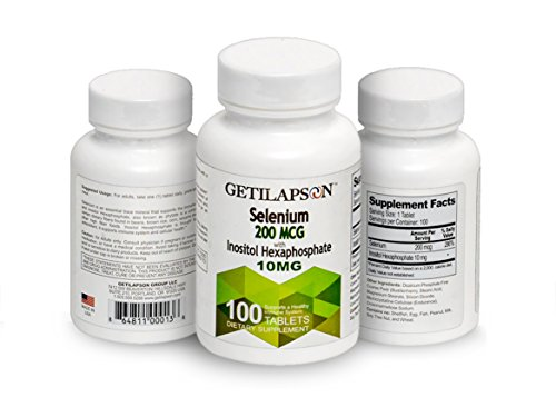 Getilapson Selenium 200mcg with Inositol Hexaphosphate 100 tablets by Getilapson