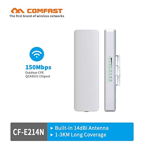 Comfast 1-2KM 150Mbps 2.4ghz Outdoor WiFi CPE COMFAST CF-E214N CPE Wireless WiFi Repeater Long Range AP Router CPE Bridge Client Router