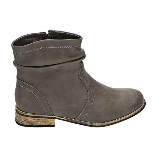 Women's Cowboy Western Boots Flats HP86 Grey - GREY iz3jHiBrzn