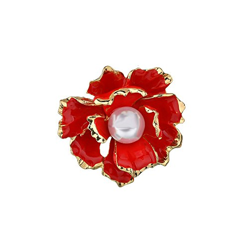 METTU Shirt Brooch Corsage Pin Graduation Prom Badge Ribbon Corsage Brooch for Girls (Red) by METTU