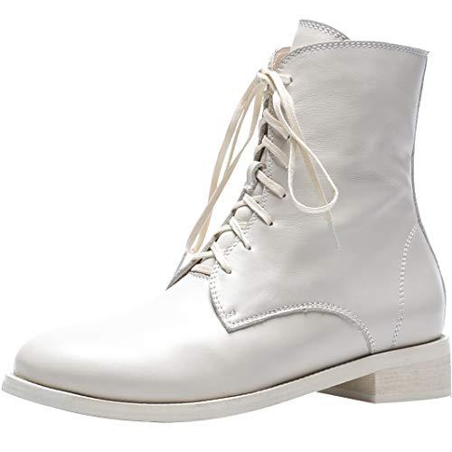 Cuir Bottes Blanc cass Lacer Jushee Autres Cheville Juapolo 3 Femme CM Bloc YvAv8zOP