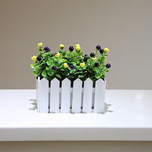 Lcoran Flores Artificiales Planta Valla De Madera Juego
